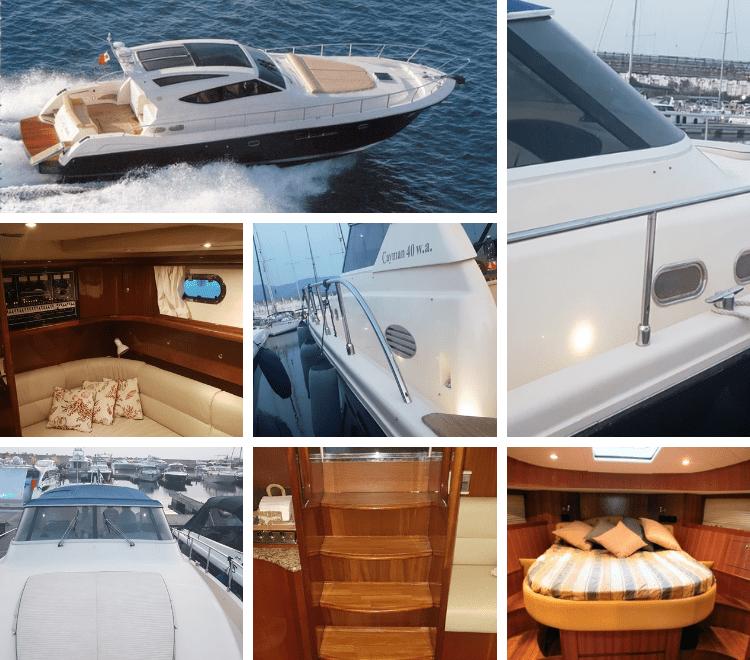 Cayman Yachts luxury Charter Napoli. Raffinata imbarcazione senza rinunciare al lusso e alle comodità, sportiva e veloce.
