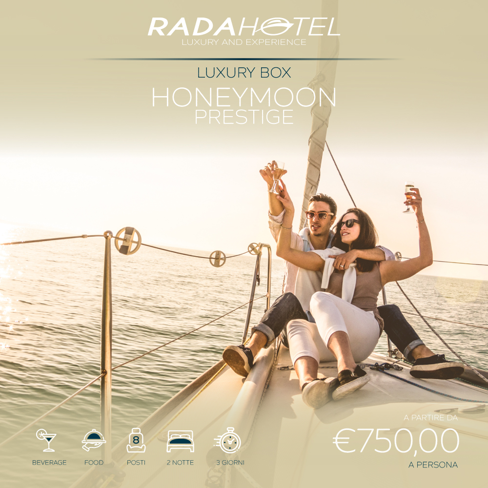 Honeymoon prestige, brindisi in yacht